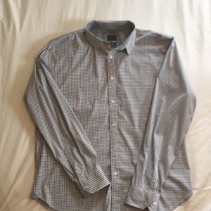 Under Armour gray/white gingham shirt 2XL